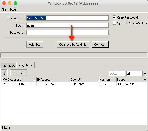 Mikrotik WINBOX RoMON - Remote Desktop Manager - AddOns